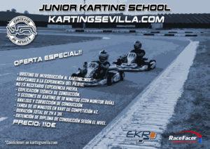 Cartel junior karting school Karting Sevilla