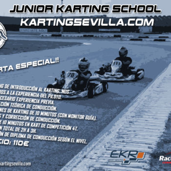 Cartel junior karting school Karting Sevilla