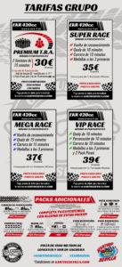 Tarifas de grupos Karting Sevilla