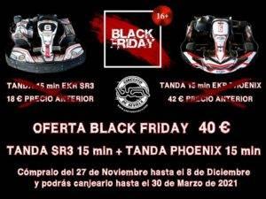Cartel Black Friday Karting Sevilla